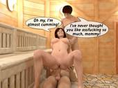 Hot incest sauna